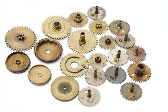 Check out this item in my Etsy shop https://www.etsy.com/listing/275711104/lot-of-10-pcs-brass-clock-gears