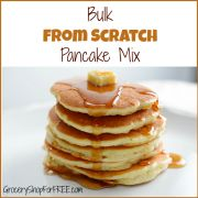 Bulk Pancake Mix From Scratch Recipe!