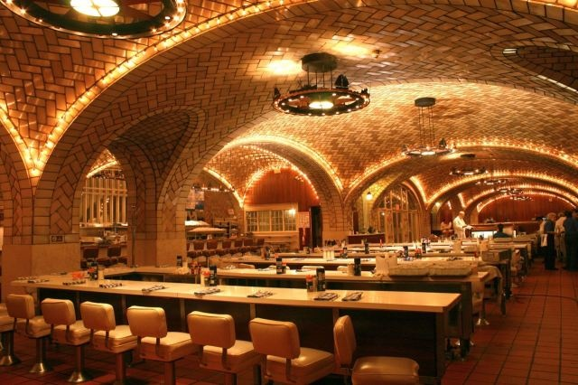The oyster bar in Grand Central. I adore oysters, one of my ambitions is to eat them here.