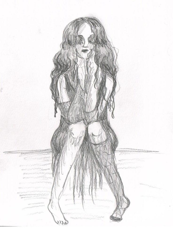 by Caranfinwen  #hair #woman #sketch #sitting