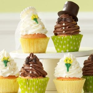 Bride and Groom Cupcakes Recipe from Taste of Home