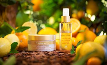 Coming Soon! A new website for Champneys Spa Products..also available at Target .. Mediterranean bliss shimmering body oil!