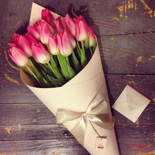 flowers, tulips, and pink kép