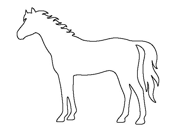 horse pattern  use the printable outline for crafts