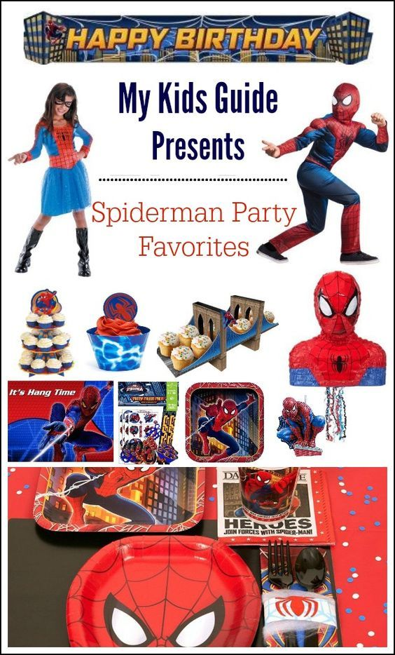 Spiderman Party Supplies for Kids| MyKidsGuide