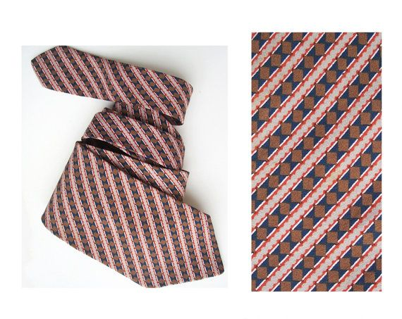 Christian Dior vintage tie pure silk unusual mens by MensSilk