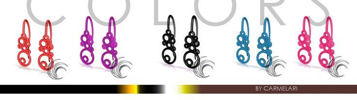 COLORS We're almost there! I look forward to to wear them  glamur earrings in different colors available. Light, easy and unique design.  try them now! See other collections here http://goo.gl/LlxVOP  Ci siamo quasi! non vedo l'ora di indossarli  orecchini glamur in diversi colori disponibili. Leggeri, facili e dal design esclusivo.  provali subito! guarda le altre collezioni qui http://goo.gl/LlxVOP
