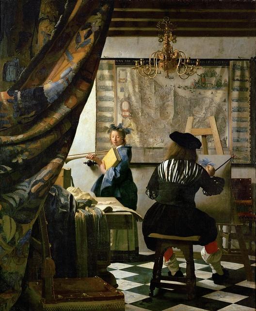 Jan Vermeer - The Art of Painting [1666-68], via Flickr. (HUGE image at the link)