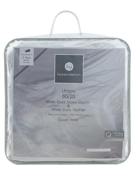 This 80% down cluster 20% feather duvet inner is a sumptuous solution for providing medium warmth to your bed.