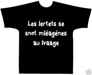 T-Shirt - Humour - Lettres mélangées - Personnalisé                                                                                                                                                                                 Plus