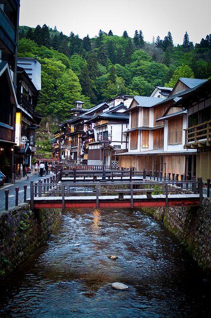我県の宝 銀山温泉 Ginzan Onsen, Japan