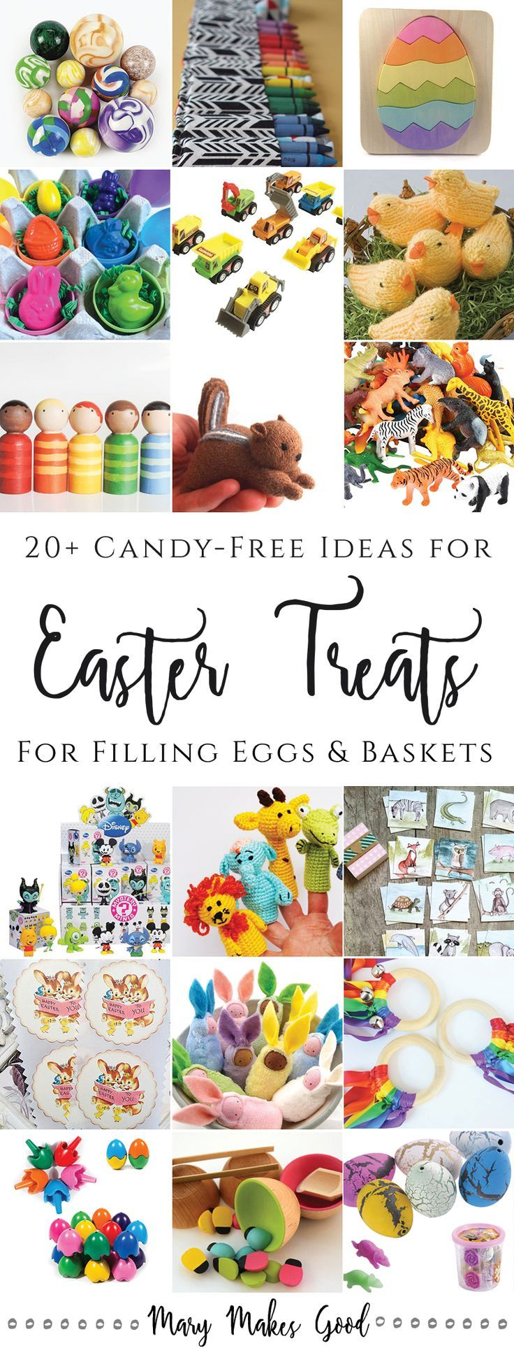 The 25 best filled easter baskets ideas on pinterest easter egg 20 candy free easter egg treat ideas for filling easter baskets and easter eggs negle Gallery