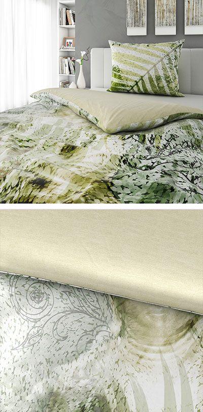 Bettwäsche Grün Mit Dschungel Muster 140x200 Bettwäsche