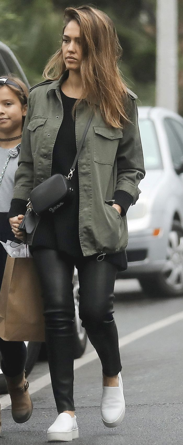 Jessica Alba's Stylish $40 Jacket Is Still Available via @WhoWhatWear