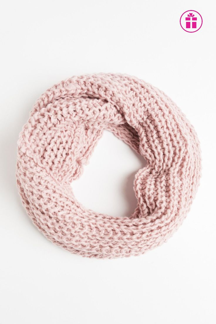 Braided knit eternity scarf