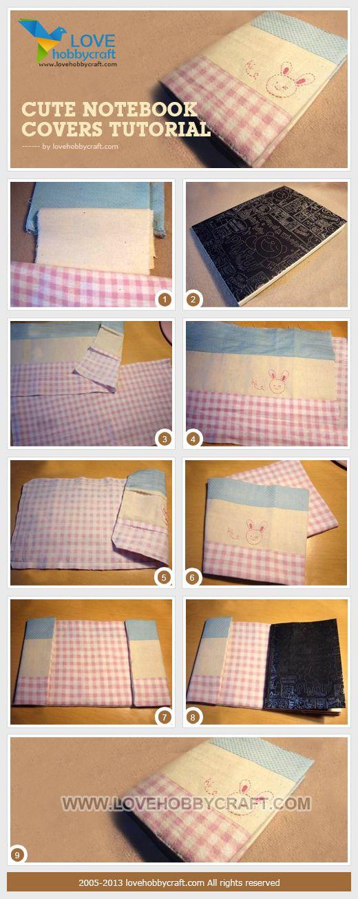 Cute notebook covers tutorial