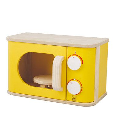 Take a look at this Yellow Microwave by PlanToys on #zulily today!