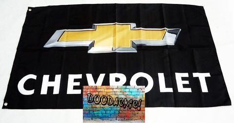 Chevrolet Gold Logo Banner Flag