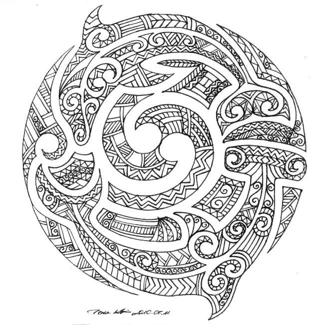 In Maori moko style by ~Milanthis on deviantART