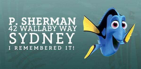 Dory! P.Sherman, 42 Wallaby Way, Sydney
