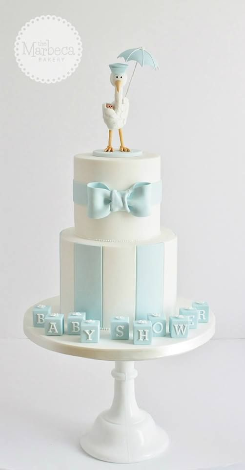 Boy baby shower, would look nice in pink too :)