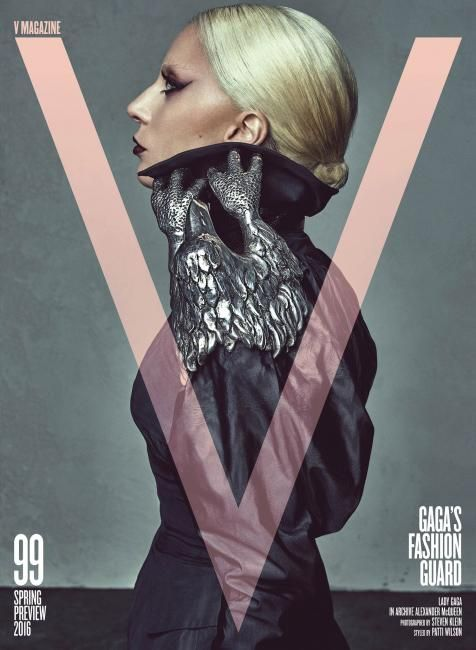 Lady Gaga wearing archival Alexander McQueen - V Magazine (US)