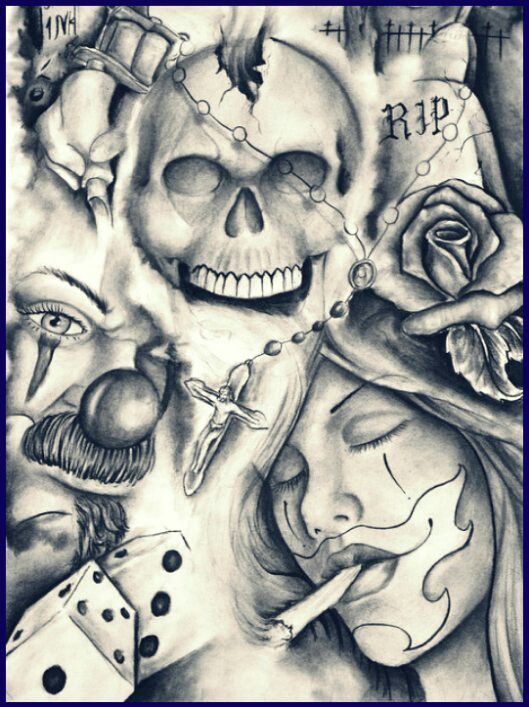 Pin by shane s on fine line artwork pinterest chicano for Die hard tattoo albany oregon