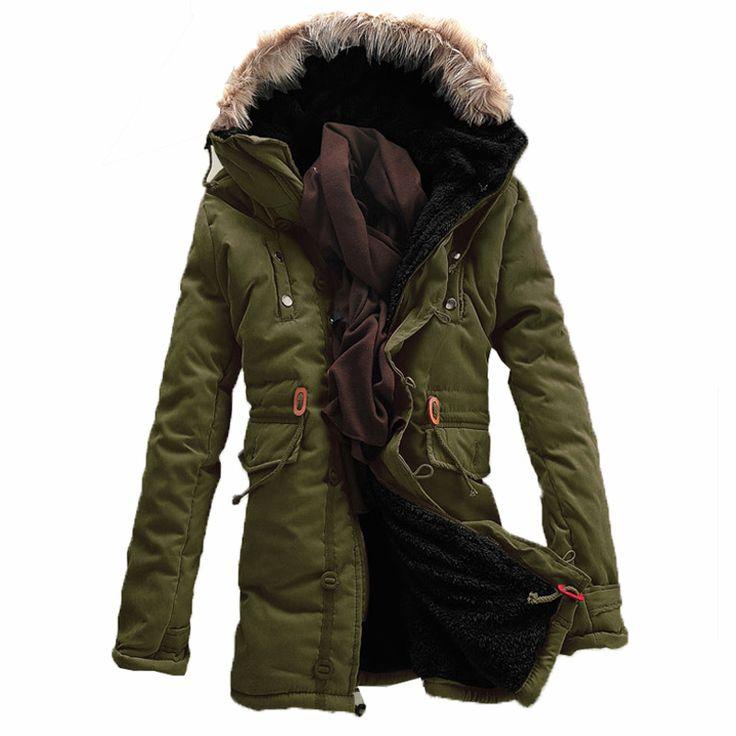 2017 Winter Parka men Jacket Fur Hood Plus size Winter jacket men Thick Warm Winter Jacket Solid Color Fashion Men's Coat #Affiliate