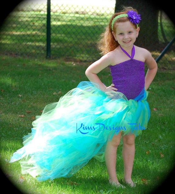 Ariel Mermaid Tutu Dressup To Preteen Sizesfree By