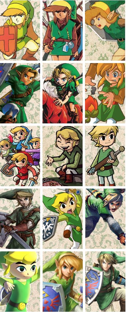 The Legend of Zelda - Link Through the Years.