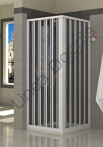 Box Doccia in PVC a soffietto - 2 lati 80x80 cm