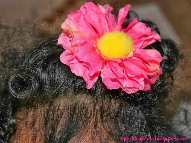 DIY bloem haar clips