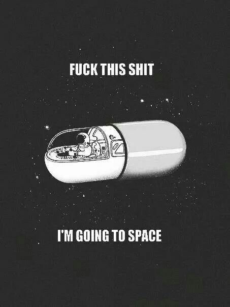 I'm going to space
