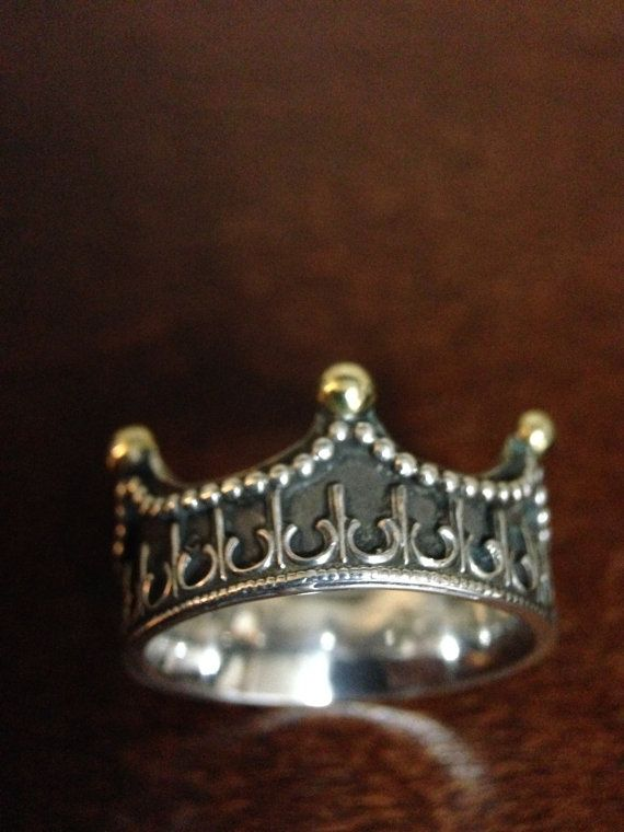 Favorite!  appeals to my rocker side too! Kings Crown Ring by MagicRings on Etsy, $45.00