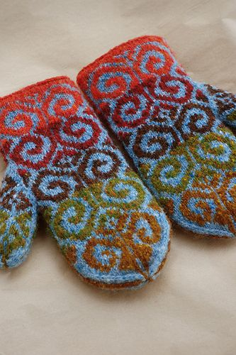 amazing fiddlehead #mittens by adrian bizilia - currently working on #knitting my pair but they'll probably be ready for next winter!