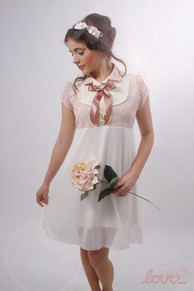 """Mina""-Fest/Brautkleid Chiffon Rosé von mydearlove® - shop auf DaWanda.com"