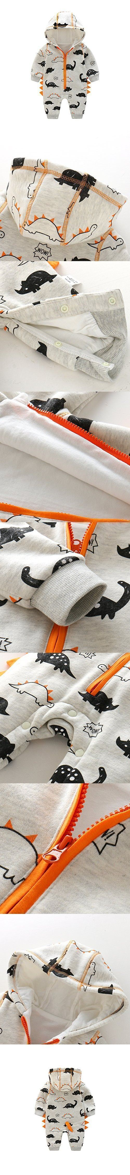 Newborn Baby Boy Baby Girl Unisex Clothes Long Sleeve Dinosaur Hoodies Winter Warm Romper outfit 3-6 months #babyboyhoodies #babygirlhoodie #babyboylongsleeve #babygirlhoodies #babyhoodies #babyboyoutfits #boyoutfits