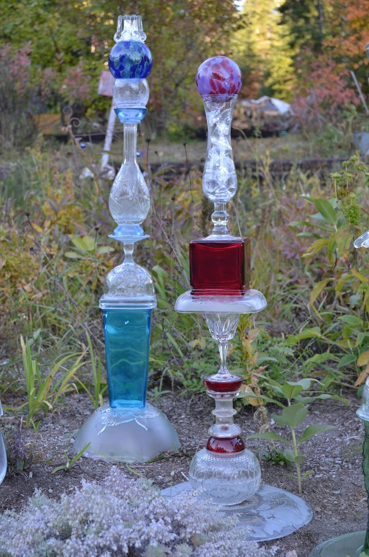Art For The Garden: Garden Totems, Recycled Glass