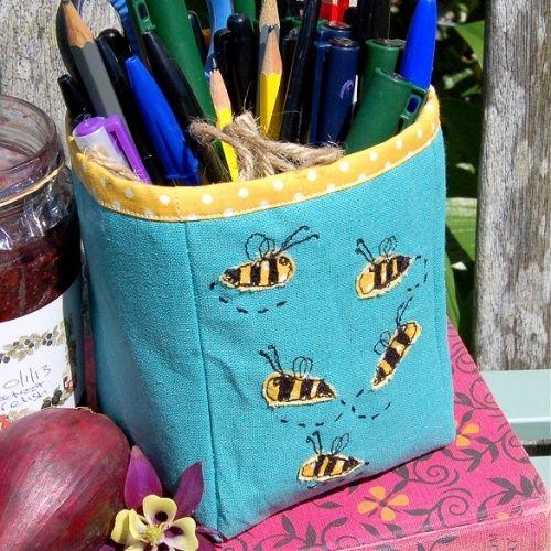 Buzzing Bees Storage Pot