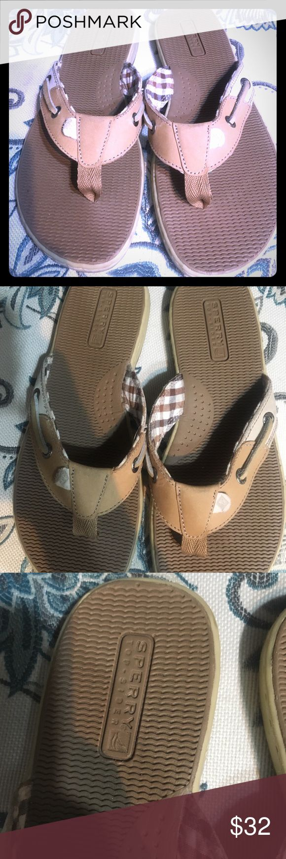 Sperry sandals Super cute   Casual day shoe  Worn once. Like brand new Sperry Shoes Sandals