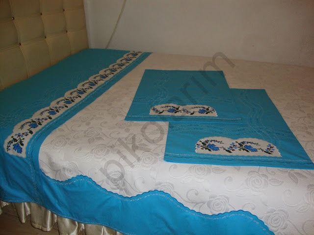 Pikolarım: Mavi pike,yastık..