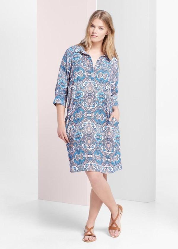 Ropa de moda primavera verano para gorditas 2015 vestido camisero de Mango