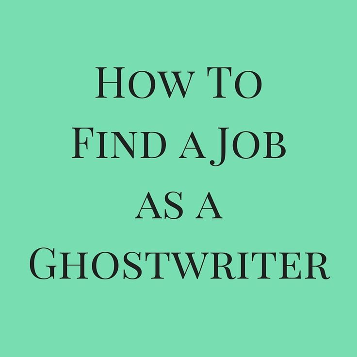 How to find a ghostwriter published