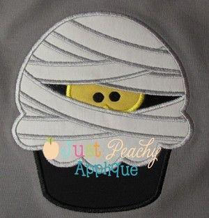 Mummy Cupcake Applique Design