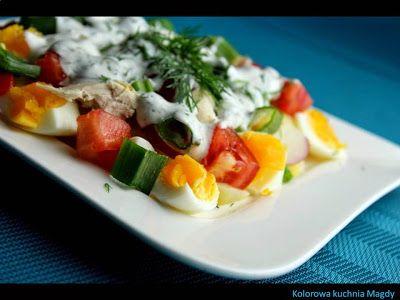 Kolorowa Kuchnia Magdy: Dietetyczna sałatka wiosenna