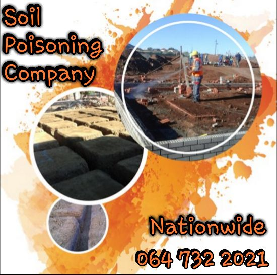 Soil Poisoning Services - 064 732 2021 - Countrywide.  Please check out our Soil Poisoning Website:  https://soilpoisoning1.wixsite.com/website  For any inquiries, questions or commendations, please call: 064 732 2021,Send an e-mail to soilpoisoning@gmail.com or fill out the form on our Website.