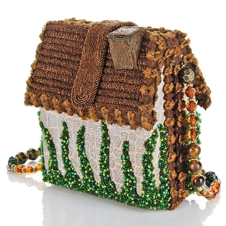 "Mary Frances ""Home Sweet Home"" Beaded Handbag at HSN.com"