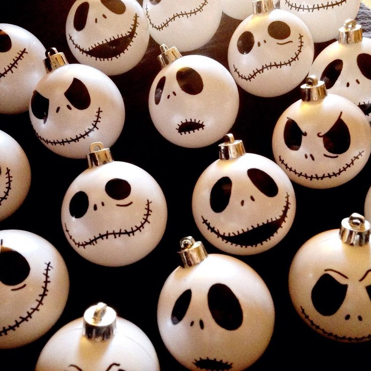 Waiting to dry these hand painted ornaments