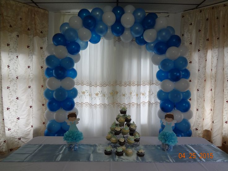 17 best images about baptisim on pinterest cross cakes for Decoracion de globos para bautizo