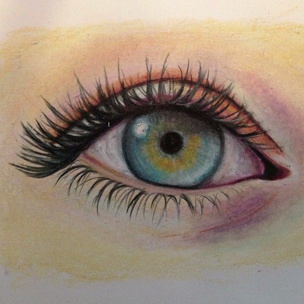Practice eye drawings using Berol prismacolor pencils
